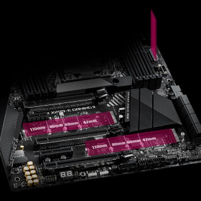 Drei PCIe 3.0 M.2
