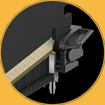 Metalleinsätze halten die Grafikkarte während der Installation sicher an ihrem Platz.