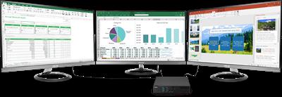 Beeindruckende 4K-UHD-Auflösung und Unterstützung für drei Bildschirme