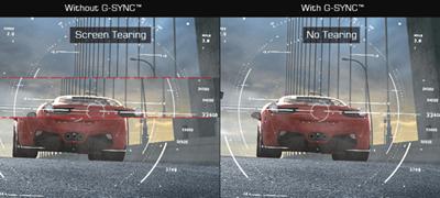 Sichere dir einen Wettbewerbsvorteil mit der NVIDIA®G-SYNC- Technologie
