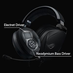 Elektret-Treiber und Neodym-Basstreiber