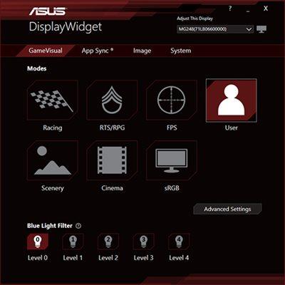 ASUS-exklusive DisplayWidget-Software