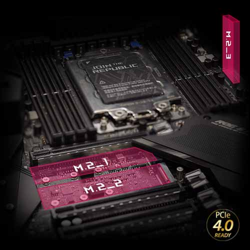 Triple PCIe 4.0 M.2