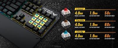 Langlebige mechanische Schalter mit N-Key-Rollover