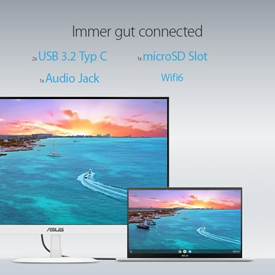 Konnektivität – Höchste Flexibilität mit USB-C und schneller Wi-Fi Verbindung