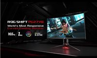"slide {0} of {1},zoom in, ROG Swift PG27VQ Curved Gaming Monitor – 68,58cm (27"") 2K WQHD (2560x1440), übertaktbare 165Hz, 1ms, G-SYNC, Aura-Sync-Technologie"