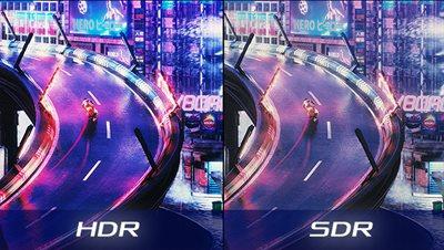 High Dynamic Range (HDR) mit DCI-P3 90% und DisplayHDR 1000
