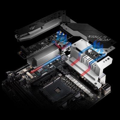 Aktiver Chipsatz- & VRM-Kühler
