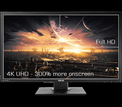 """Ein 71,12cm (28"""") 4K-UHD-Display für eine extrem detaillierte Bilddarstellung und mehr Platz auf dem Bildschirm"""