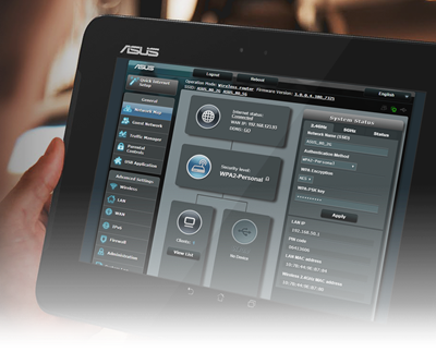 Volle Netzwerk-Kontrolle und Optimierung dank ASUSWRT