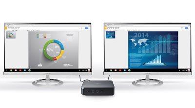 Mehr Produktivität mit zwei Bildschirmen + echter 4K/UHD-Bilddarstellung