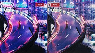 High Dynamic Range (HDR) mit DCI-P3 90% und DisplayHDR 600