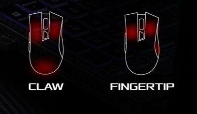 Claw- und Fingertip-Griffhaltungen