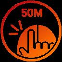 Schalter mit 50 Millionen Klick