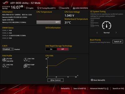 Benutzerfreundliches UEFI-BIOS