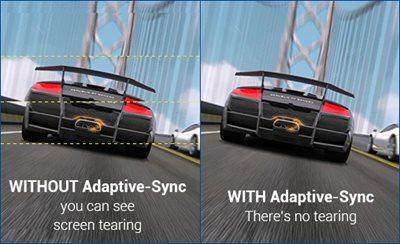 Adaptive-Sync-Technologie für ein verzögerungsfreies Gameplay