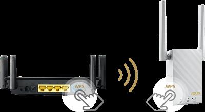 Einfache Einrichtung per Knopfdruck mit der WPS-Taste