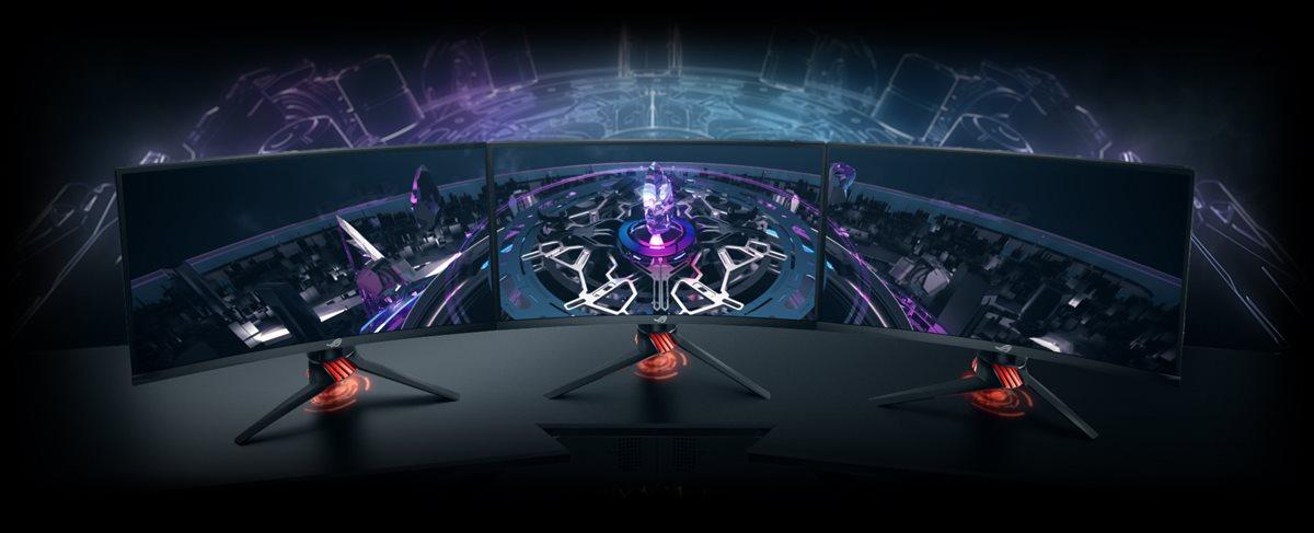 "ROG Strix XG27VQ Curved Gaming Monitor – 68,58cm (27"") Full HD (1920x1080), 144Hz, Extreme Low Motion Blur- und Adaptive-Sync(FreeSync™)-Technologie"
