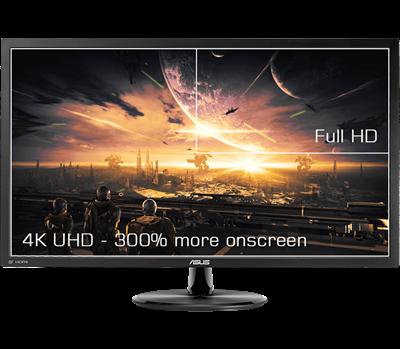 """Ein 71,12cm (28"""") 4K-UHD-Monitor für eine extrem detaillierte Darstellung und mehr Platz auf dem Bildschirm"""