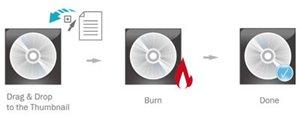 Nur 3 Schritte, um einen Brennvorgang abzuschließen