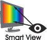 Verschiedene Betrachtungswinkel mit der Smart View-Technologie