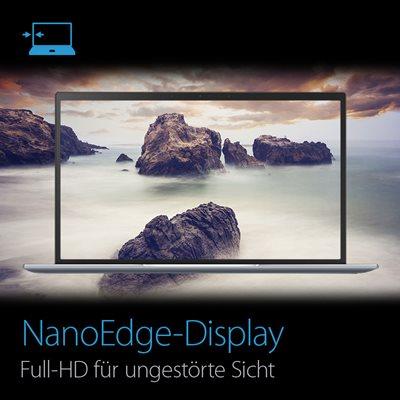 Kompaktes, glänzendes Zen-Design und großes NanoEdge-Display